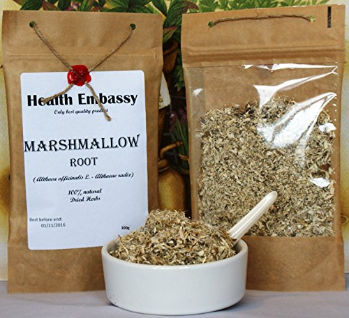 Marshmallow Root (Althaea officinalis L. - Althaeae radix) - Health Embassy - 100% Natural (100g)
