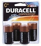 Duracell Coppertop Alkaline Batteries C 4 ea   ( Pack of 18)
