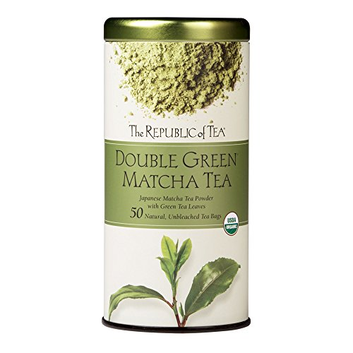 The Republic Of Tea Double Green Matcha, 50 Tea Bags, Gourmet Blend Of Organic Green Tea And Matcha Powder - Springtime Japan