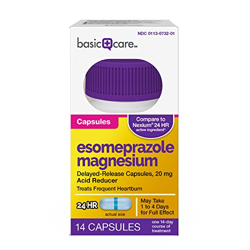Basic Care Esomeprazole Magnesium Delayed-Release Capsules, 20 mg, 14 Count