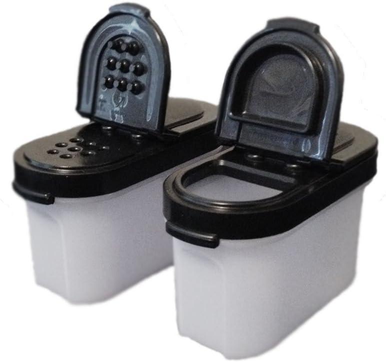 Tupperware Modular Mates Spice Shakers Small Set of 2 Black Seals