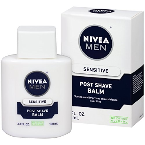 NIVEA Men Sensitive Post Shave Balm 3.3 Fluid Ounce (Pack of 3) (Balm Comfort Soothing)