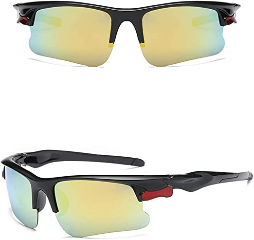 Unisex Polarized Sunglasses Uv Protection Goggles Outdoor Sports For Girls Gold