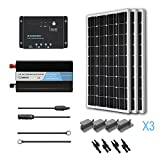 RENOGY® 300 Watt 12 Volt Monocrystalline Solar Battery Ready Kit with Wanderer Charge Controller.