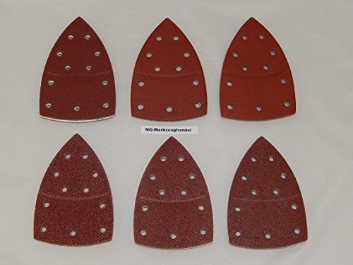 60 Stück Klett-Schleifblätter 105x152 mm Körnung je 10 x 40/60/80/120/180/240 für Multischleifer Bosch Prio, Ventaro