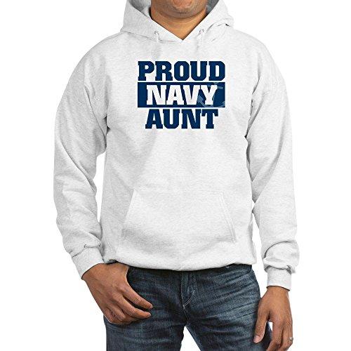CafePress US Navy Proud Navy Aunt Pullover Hoodie, Classic & Comfortable Hooded Sweatshirt
