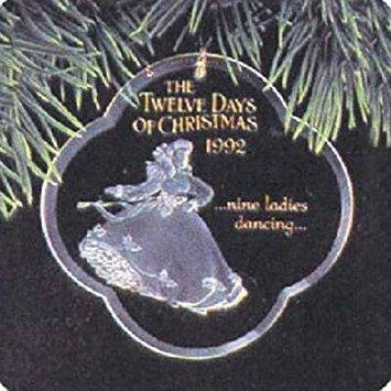 Nine Ladies Dancing Twelve Days of Christmas 9th in Series 1992 Hallmark Ornament -