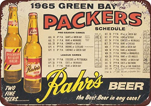 (Custom Kraze 1965 Green Bay Packers Rahr's Beer Home Schedule Reproduction Metal Sign 8 x 12 (Chinese Sellers Stealing Our Listing) Click New from to See All.)