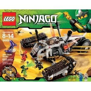 Toy / Game Lego Ninjago Ultra Sonic Raider Set 9449 With 6 Minifigures, All-Terrain Tracks And Flying Vehicle by 4KIDS