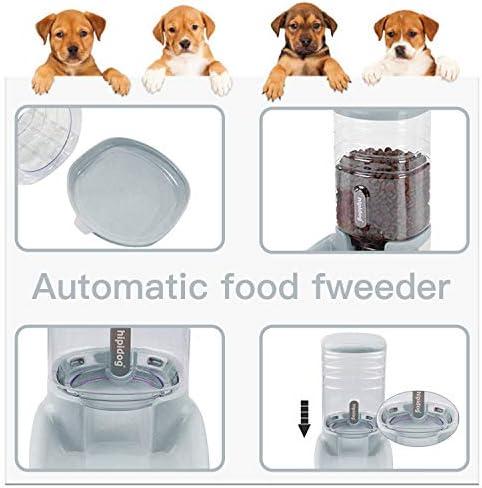 UniqueFit - Comedero automático para Mascotas, Gatos, Perros y Gatos, 3,8 l, con 1 dispensador de Agua y 1 alimentador automático para Mascotas 5
