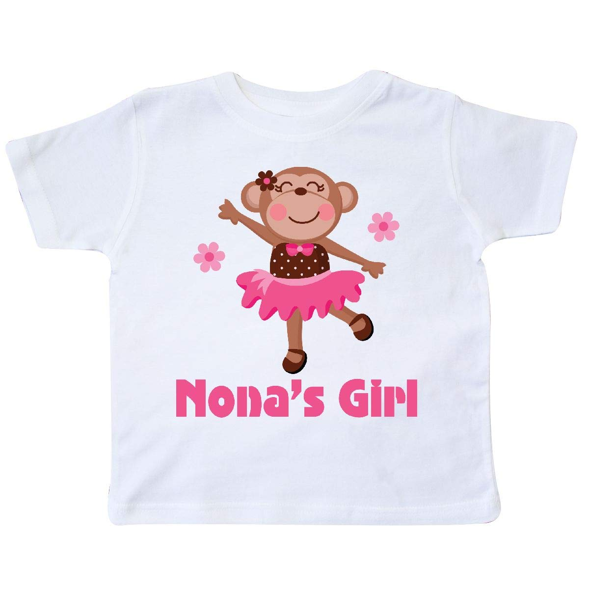 inktastic Nonas Girl Monkey Toddler T-Shirt