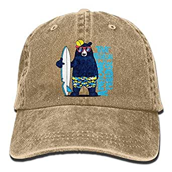 NDJHEH Unisex Cl Surfer Bear Jeanet Baseball Cap Adjustable ...