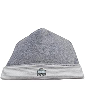 Baby Boys Freight Train Velour Hat – Grey