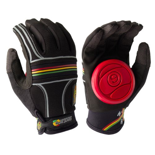 - Sector 9 BHNC Slide Glove, Rasta, Small/Medium