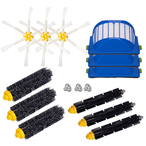 I-clean for iRobot Roomba 595 620 630 645 650 655 660 Replenishment Kit , Replacement iRobot Roomba 600Series Vacuum Cleaning Accessories