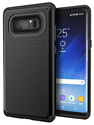 Galaxy Note 8 Case, Cimo [Shockproof] Heavy Duty Shock Absorbing Hybrid Protection Cover for Samsung Galaxy Note 8 - Black