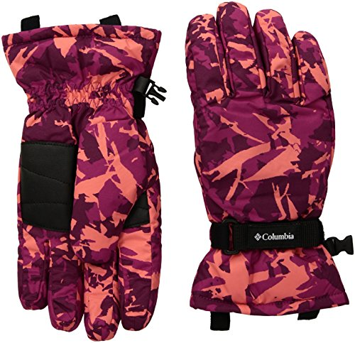 Columbia Big Girls Y Core Glove, Deep Blush Camo, Medium (Gloves Camouflage Nylon)