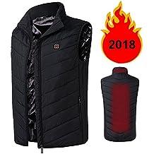 COCO BLVD 2018 Upgrade Electric Heated Vest Lightweight USB Rechagable Heating Warm Waistcoat Down Gilet