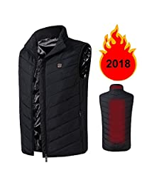 Cocobla 2018 Electric Heated Vest for Men Adjustable USB Sports Waistcoat Down