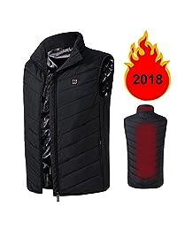 New 2018 Electric Heated Vest for Men Adjustable USB Sports Waistcoat Down Vest