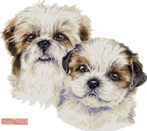 Cross Stitch Chart Kit Shih Tzu Dog 6