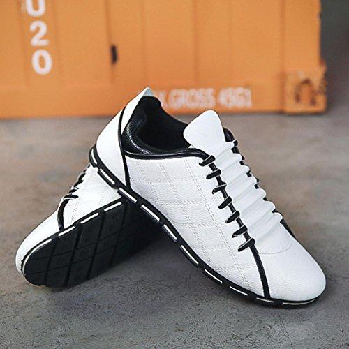 Britannico Scarpe Confortevole Traspirante Sneakers Pelle Ballerine Uomo bianca Stile di da BYSTE Scarpe Moda Casuale Stile Scarpe Nuovo xw0PxZqgvA