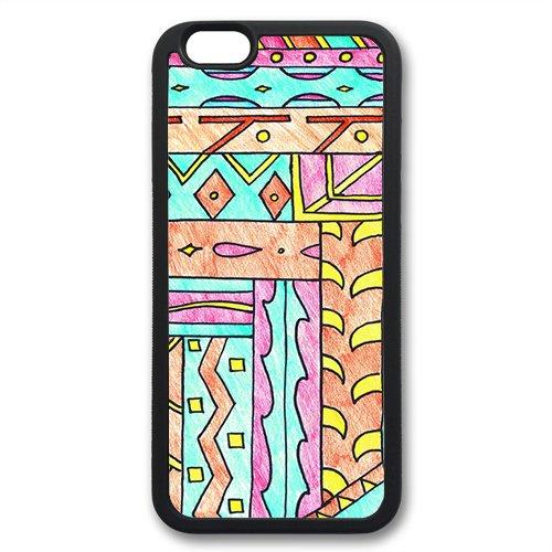 Coque silicone BUMPER souple IPHONE 6 Plus - Aztec tribal Azteque motif 6 DESIGN case+ Film de protection OFFERT