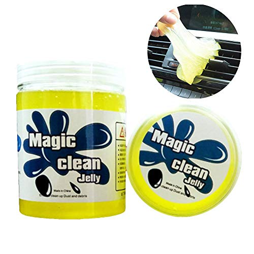 blue--net Keyboard Cleaner - Car Vents Cleaning Gel Universal Dust Cleaner, Multi-Function Magic Dust Removal for Computer Keyboard, Mouse, Car Air Intake, Toys 200g