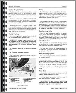 john deere 410 510 round balers oem service manual john deere rh amazon com john deere f510 service manual john deere 510 round baler owners manual