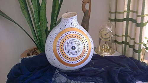 Acyrilic Gold White Large Size Glass Evil Eye Best Seller Gourd Lamp Night Light Unique Birthday Gift Idea Boho Home Decor ()
