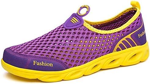 カップルモデル屋外用リバーシューズボトムス夏用女性と男性用軽量MDスリップスリムフィットペダルメッシュ通気性スニーカープラスサイズ ポータブル (色 : Purple, Size : US6.5)