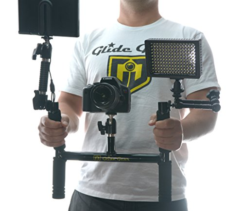 Glide Gear BV100 Horn Video Camera Handle Grip /Field Monitor Yoke Holder w/ Shoulder Strap Ball Head