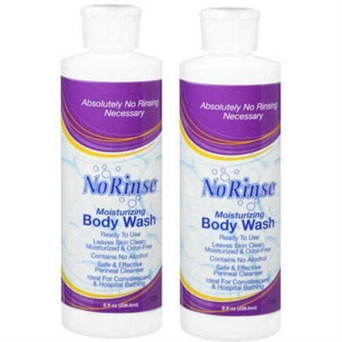 No Rinse Body Wash (2 Bottles), 8FL bottles