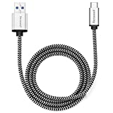 USB 3.1 Type C Cable Tenswall High-speed & Fast-charging Braided Data Line with Reversible Connector for Type-c Devices Including the New Macbook, Chromebook Nexus 5x,6p, Nokia N1 and More 3.3ft(1m)