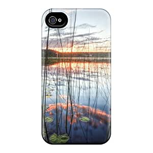 Idea Diy For SamSung Note 4 Case Cover (sunrise On The Lake), Protective Stylish Cases