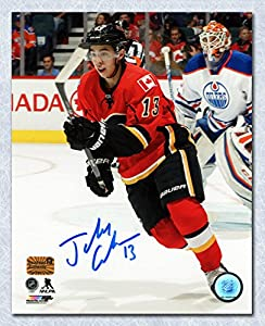 Johnny Gaudreau Calgary Flames Autographed Battle of Alberta 11x14 Photo