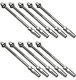 Atlantis S0980-0004 Rail Easy Stud Assembly for 5/32'' Cable - 316L Stainless Steel - Quantity of 10