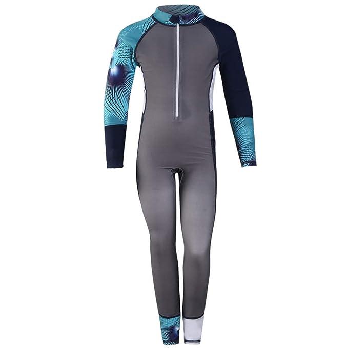 f0f4f19b3d Amazon.com: Kids Boy & Girl Swimsuits Long Sleeve Full Body ...