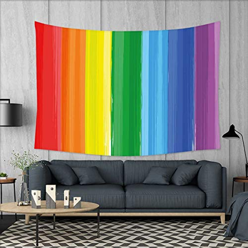 smallbeefly Rainbow Tapestry Table Cover Bedspread Beach Tow