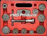 Disc Brake Caliper Piston Compressor Windback Wind Back Pad Tool 12pc W/case