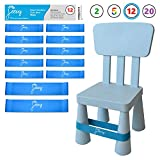 Chair Bands for ADHD Kids - (12-Pack) Kick Fidgets for Elementary, Middle, High School Students and Adults - Best for Classroom Chairs and Desk - (Light Blue) Fidget Feet Band by Feety