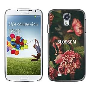 TopCaseStore / la caja del caucho duro de la cubierta de protección de la piel - Begonia Vignette Green Nature - Samsung Galaxy S4 I9500
