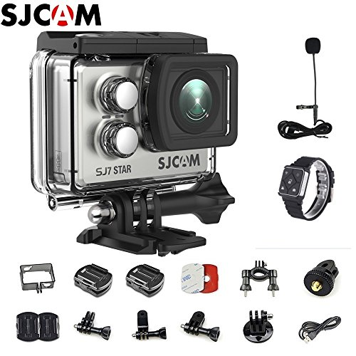 SJCAM SJ7 Star Kit {Including SJCAM Microphone, SJCAM Remote Watch} Real 4K Action Camera Wifi Waterproof Underwater Camera Ambarella Chipset 30FPS/Sony Sensor 12MP Gyro Stabilization