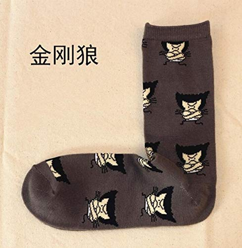 RAMZS 1P Figure Cartoon Socks Lron Man Socks Men Future Cotton Men Funny Socks -Multicolor Complete Series Merchandise