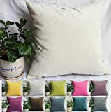 Decorative Pillow Cover - TangDepot Solid Velvet Decorative Pillow Covers/Euro Pillow shams, Super Soft Velour, Micro embossed Leaf texture and shape, 10 sizes & 11 colors options, Blue, Blue Black, Charcoal Black, Coffee, Hot Pink, Light Green, Light Purples, Silver Gray, White, Wine, Yellow, 12