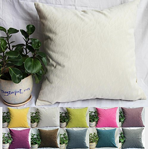 TangDepot Solid Velvet Decorative Pillow Covers/Euro Pillow shams, Super Soft