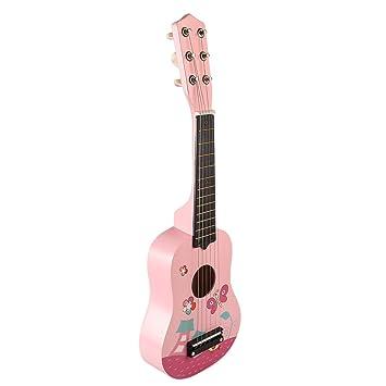 YAKOK Madera Guitarra Niño 6 Cuerdas 21 Guitarra Juguete para Niños y Niñas 3