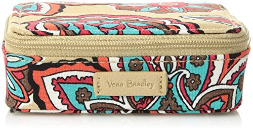 Floral Vitamin - Vera Bradley Iconic Travel Pill Case, Signature Cotton, Desert Floral + 1.5 Power,One size