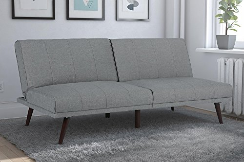 DHP Lone Pine Linen Upholstered Futon, Multi-Position and Sp
