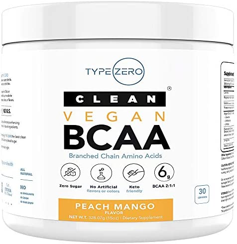 Ultra Clean BCAA Powder Vegan BCAA 6G Sugar Free Zero Artificial Sweeteners Keto BCAA